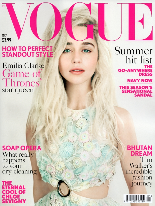 UK Vogue May 2015 Emilia Clarke Paolo Roversi