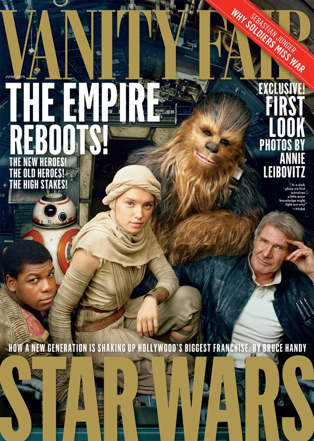 Vanity Fair June 2015 Star Wars Cast by Annie Leibovitz