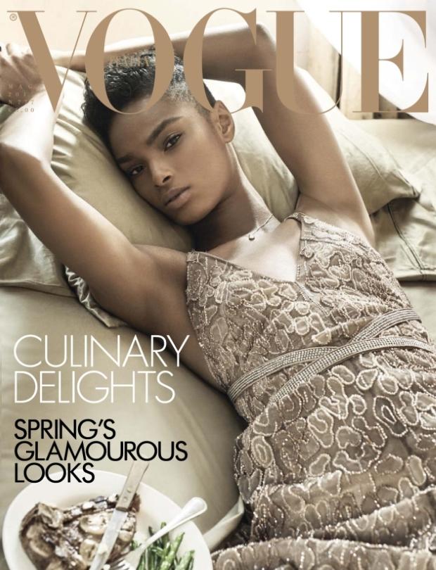 Vogue Italia May 2015 Kayla Scott by Steven Meisel