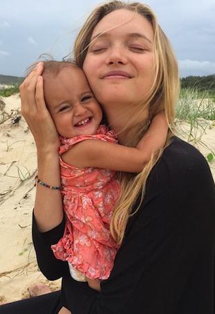 Gemma Ward and daughter Naia