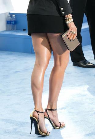 Jennifer Lopez's sexy legs.