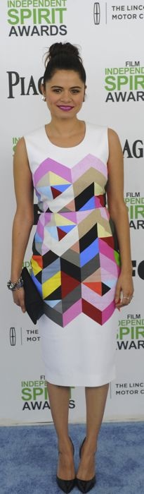 Melonie Diaz in Preen at the 2014 Film Independent Spirit Awards