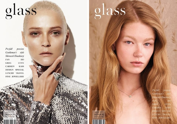 Glass Magazine Summer 2015 Carmen Kass & Hollie-May Saker