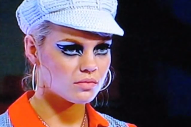 Sheridan facing elimination on Make Me a Supermodel in 2008