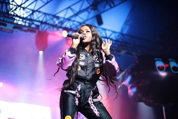 Tkay Maidza wearing EmmaMulholland