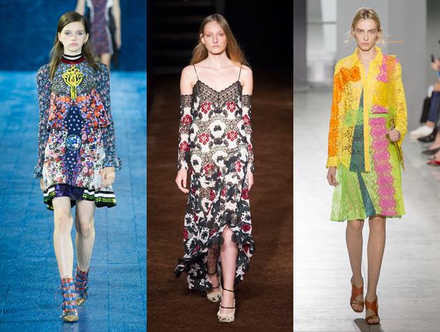 3 models walk fashion runways in London