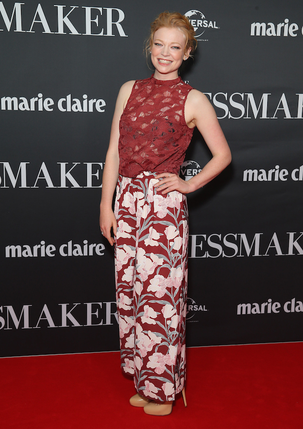 Sarah Snook arrives ahead of the red carpet screening of 'The Dressmaker'