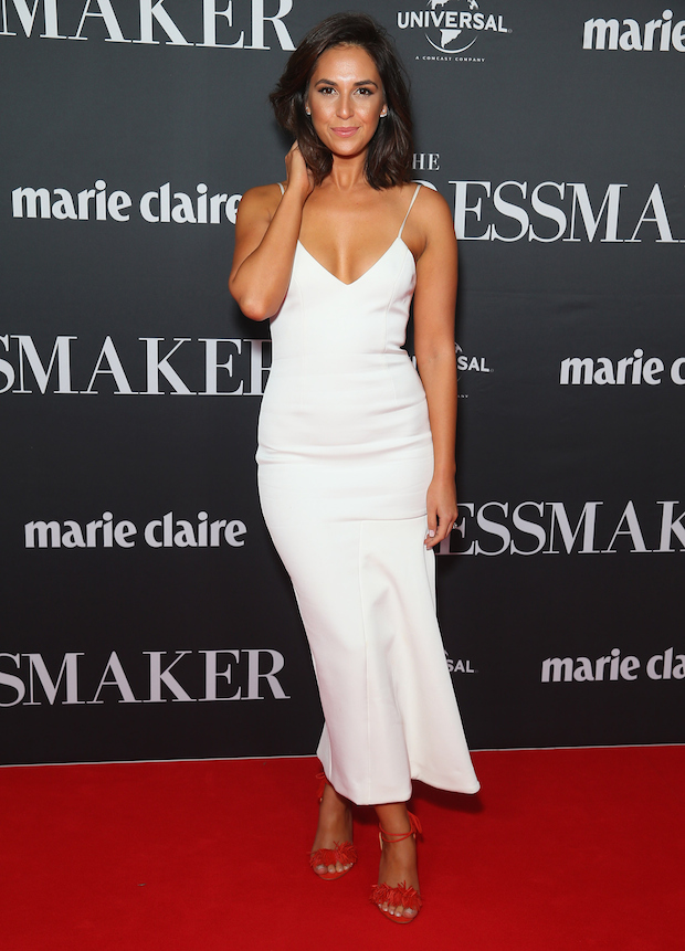 Zoe Marshall arrives ahead of the red carpet screening of 'The Dressmaker'