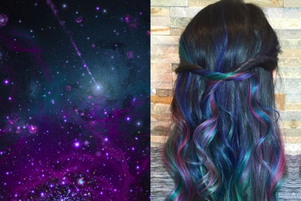 How To Get The Galaxy Hair Color Trend That S Taking Over