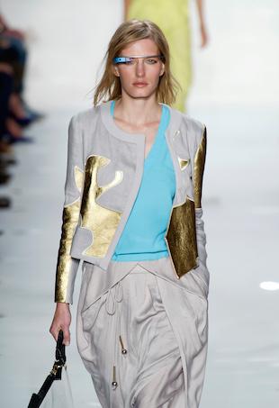 Diane von Furstenburg's futuristic google glasses showcased during Spring/Summer 2013 runway show