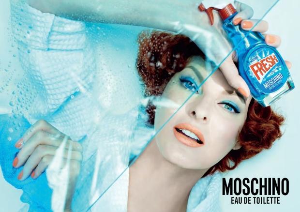 Moschino Fresh Couture Fragrance Linda Evangelista by Steven Meisel