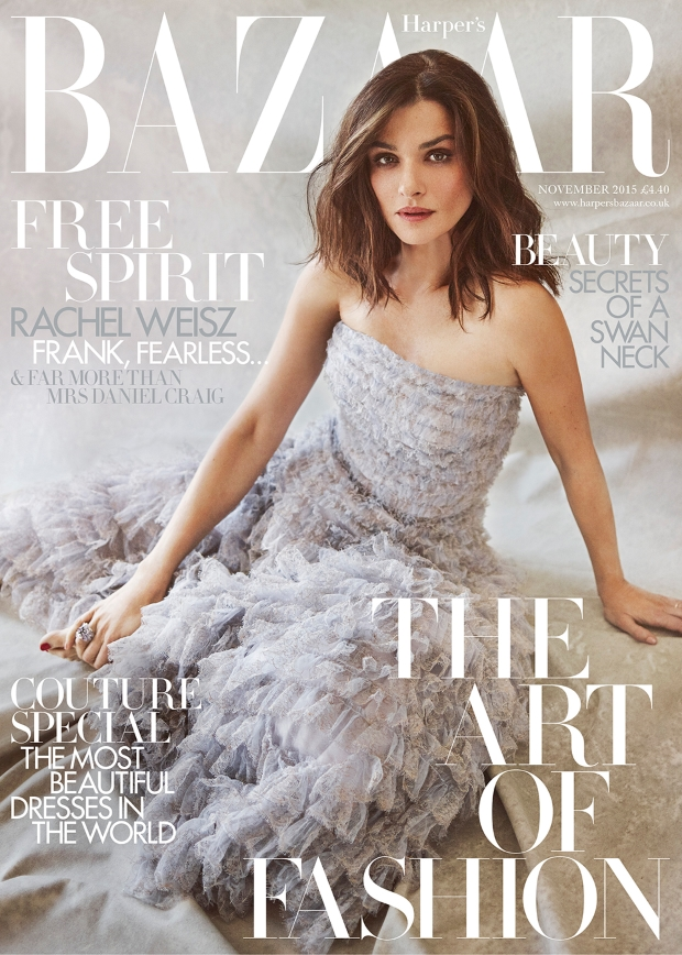 UK Harper's Bazaar November 2015 Rachel Weisz by Tom Craig