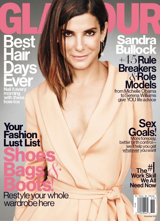US Glamour November 2015 Sandra Bullock by Matt Irwin