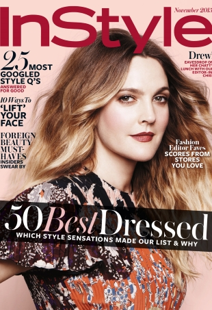 US InStyle November 2015 Drew Barrymore by Jan Welters