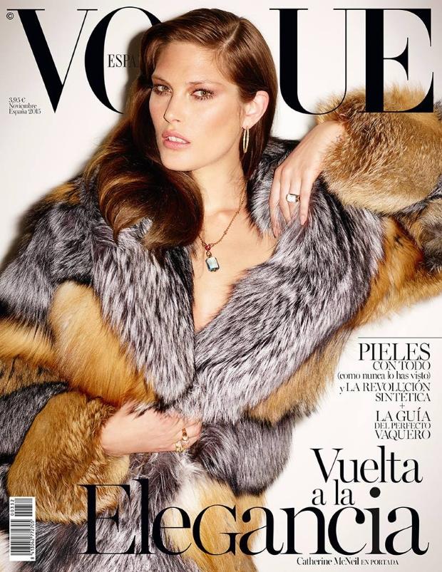 Vogue Spain November 2015 : Catherine McNeil by Ezra Petronio