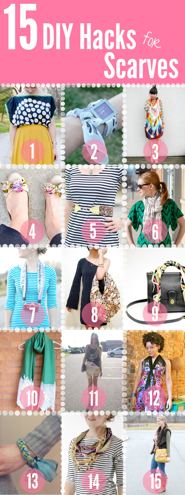 15 DIY Hacks for Scarves
