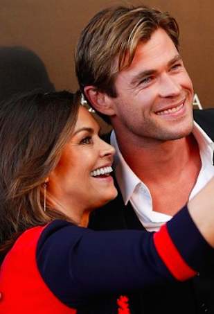 Chris Hemsworth and Lisa Wilkinson