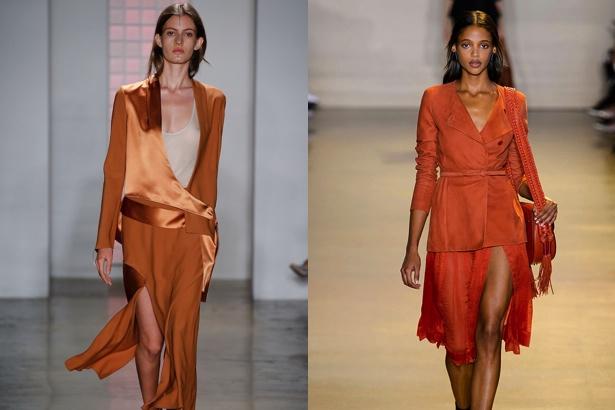 Dion Lee and Altuzarra Spring 2016 orange looks