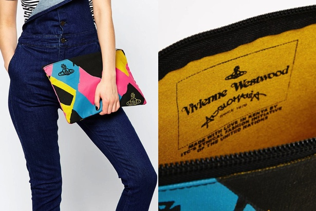 Vivienne Westwood Anglomania Clutch in Argyle Print