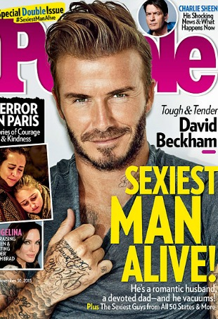 David Beckham People Magazine Sexiest Man Alive