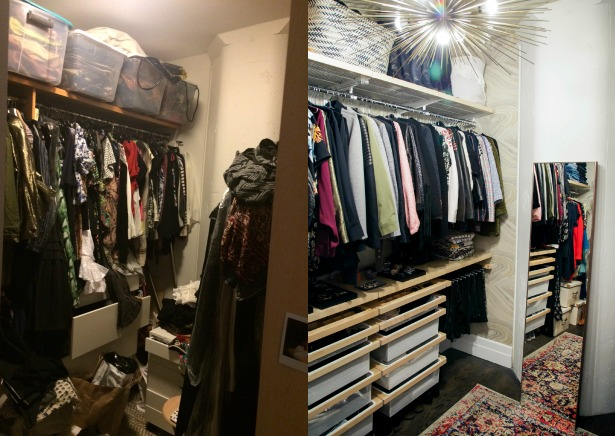 A before and after look at Rebecca Minkoff Closet Makeover by Laurel & Wolf