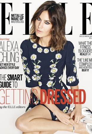 UK Elle December 2015 : Alexa Chung by Matt Irwin