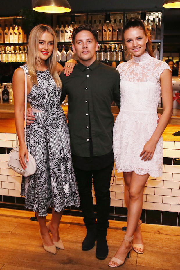 Stephanie Claire Smith and guests at Chadwick Christmas party