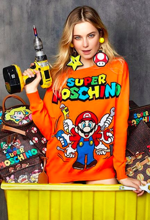 Bridget Malcolm models Super Moschino