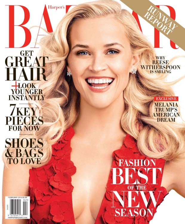 US Harper's Bazaar February 2016 : Reese Witherspoon by Alexi Lubomirski