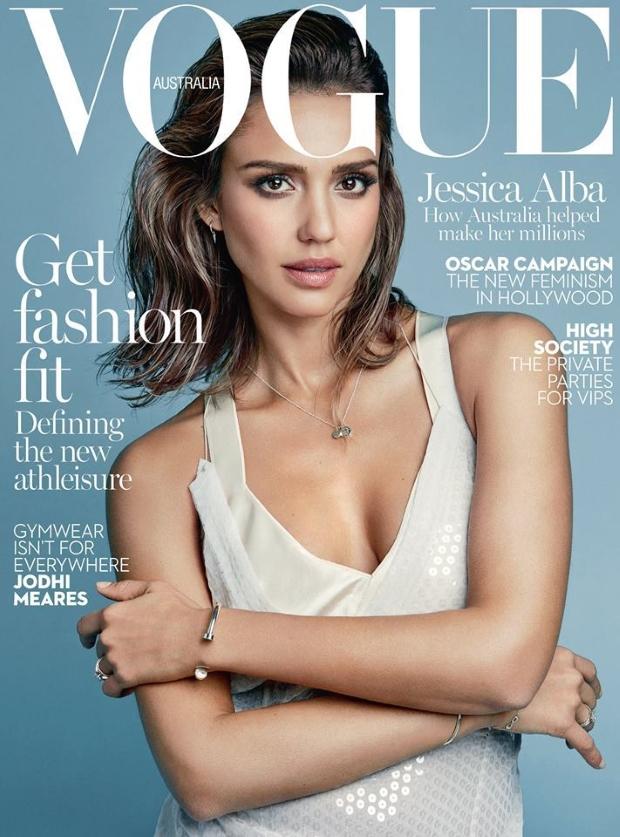 Vogue Australia February 2016 : Jessica Alba by Patrick Demarchelier