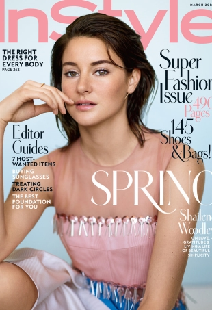 US Instyle March 2016 : Shailene Woodley by Thomas Whiteside