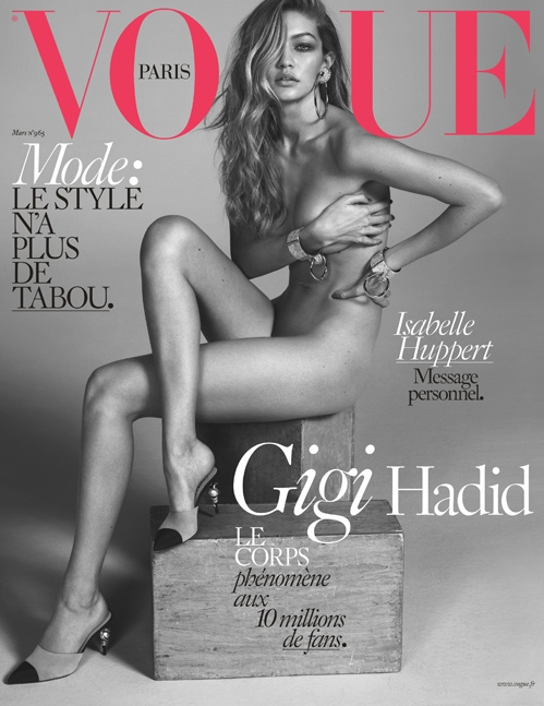Vogue Paris March 2016 : Gigi Hadid by Mert Alas & Marcus Piggott
