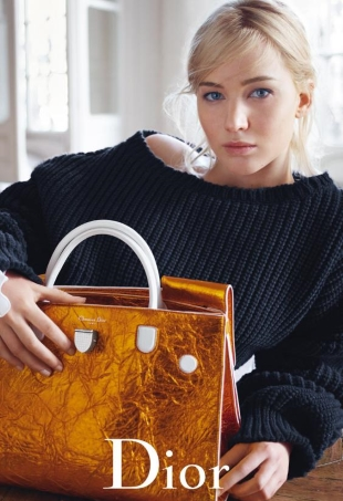 Christian Dior Handbags S/S 2016 : Jennifer Lawrence by Mario Sorrenti
