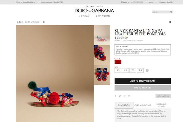 Image: Store.DolceGabbana.com