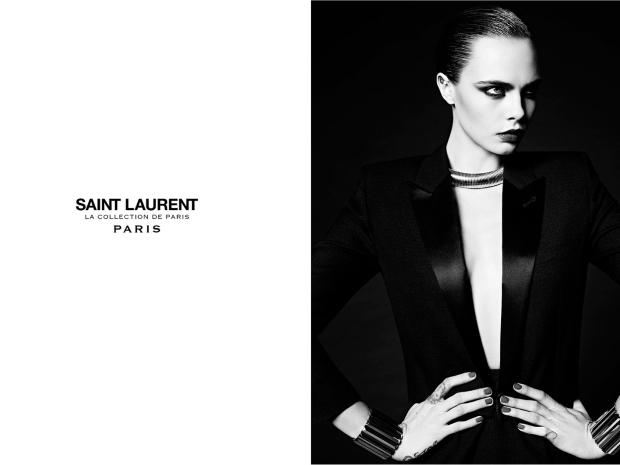 Saint Laurent 'La Collection de Paris' F/W 2016.17 : Cara Delevingne by Hedi Slimane