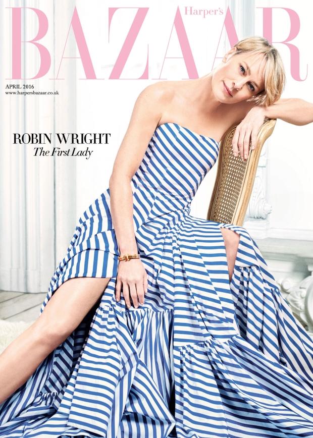UK Harper's Bazaar April 2016 : Robin Wright by David Slijper