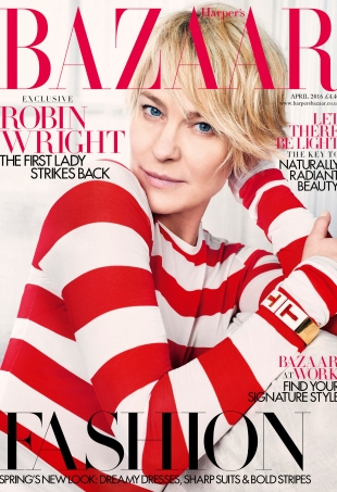 UK Harper's Bazaar April 2016 : Robin Wright by David Slijper