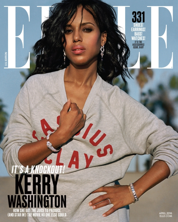 US Elle April 2016 : Kerry Washington by Dan Martenson