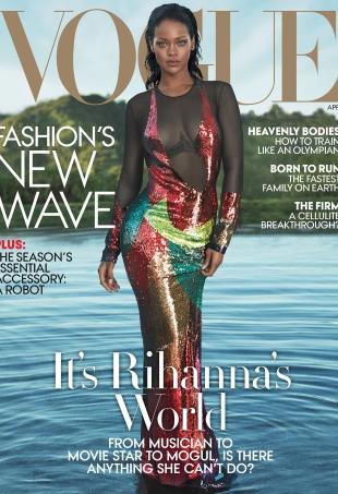 US Vogue April 2016 : Rihanna by Mert Alas And Marcus Piggott