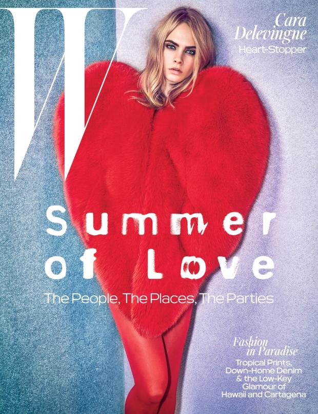 W Magazine June/July 2016 : Cara Delevingne by Mario Sorrenti