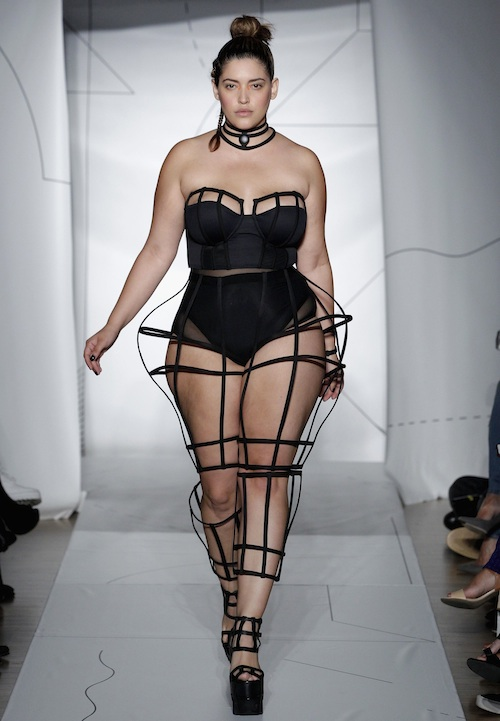 A model walks the runway at the Chromat SS15 Formula 15 fashion show at The Standard Hotel on September 4, 2014 in New York City.