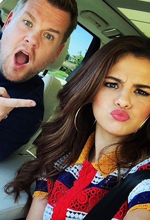 Selena Gomez takes Carpool Karaoke to new heights with a roller coaster sing-along.
