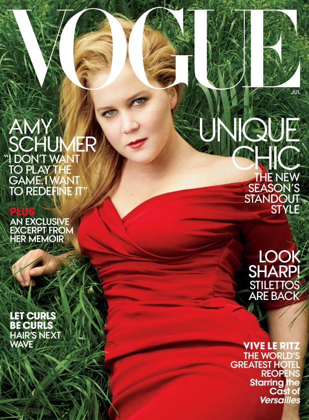 US Vogue July 2016 : Amy Schumer by Annie Leibovitz