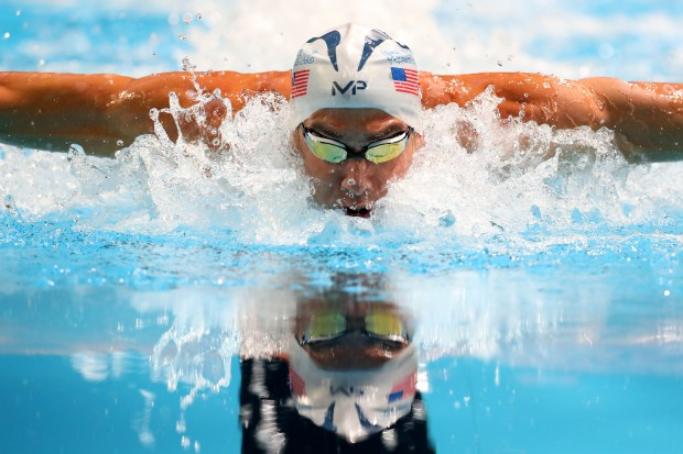 Michael Phelps demonstrates his prowess during Day Seven of the 2016 U.S. Olympic Team Swimming Trials.