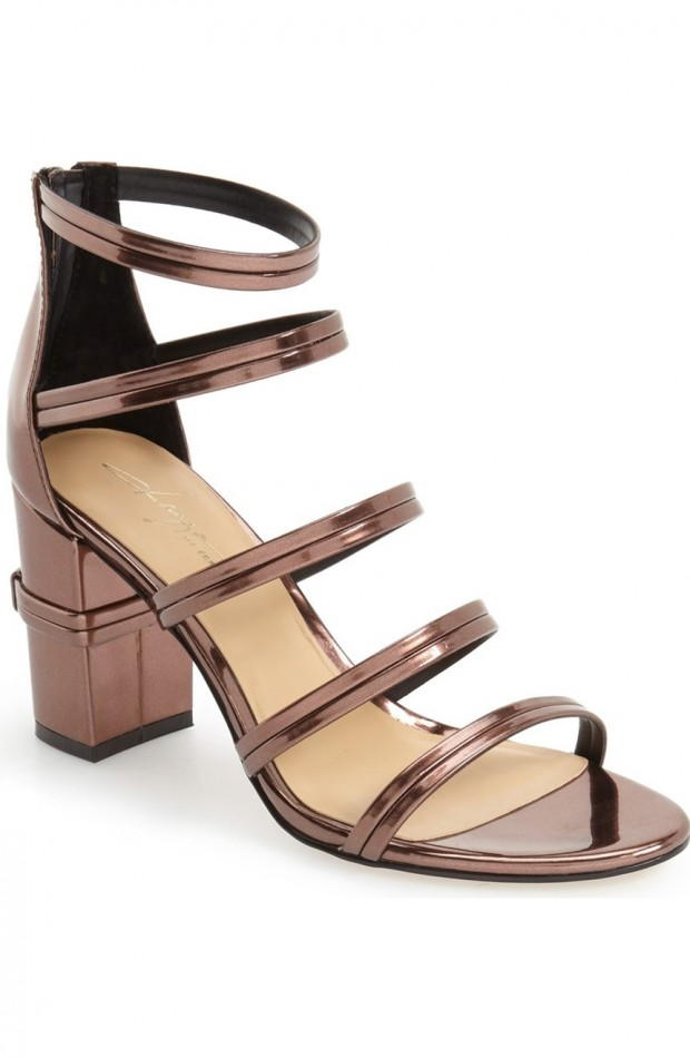 The metallic Amiee strappy sandal from Daya by Zendaya.