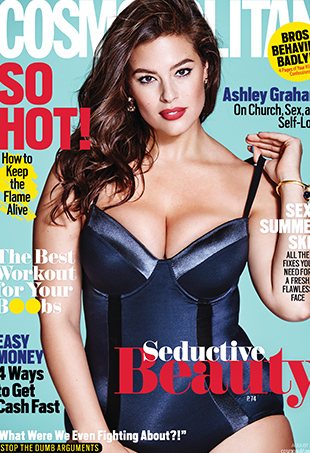 Ashley Graham covers Cosmopolitan's August 2016 issue.