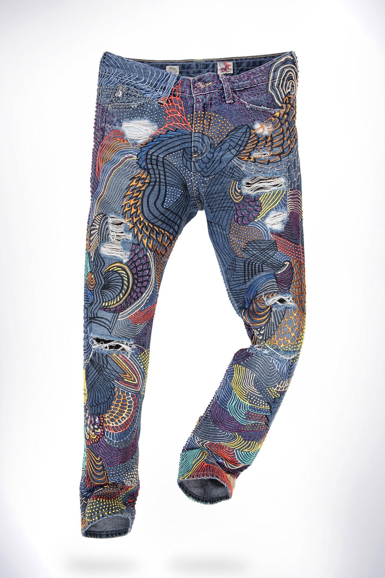 Emma Watson's customized jeans by Johny Dar.