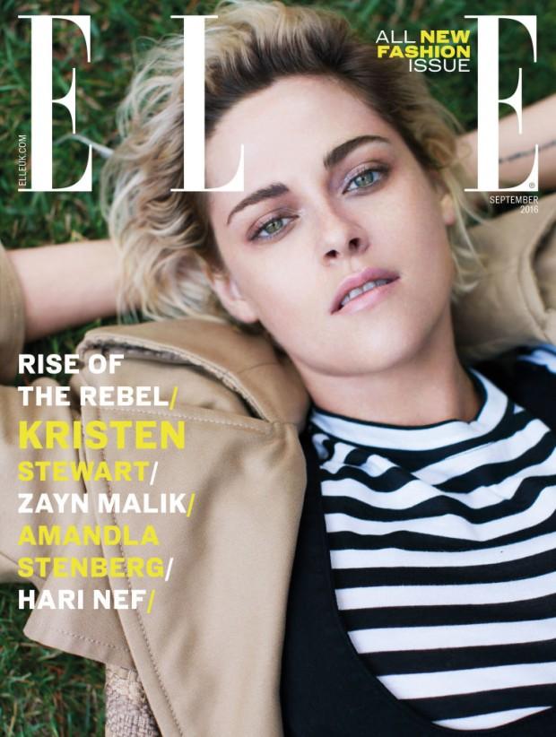 Kristen Stewart is one of the five cover stars of Elle UK's revolutionary September 2016 issue.