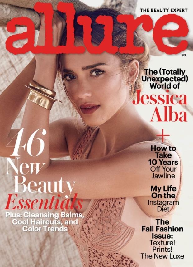 Allure September 2016 : Jessica Alba by Will Davidson
