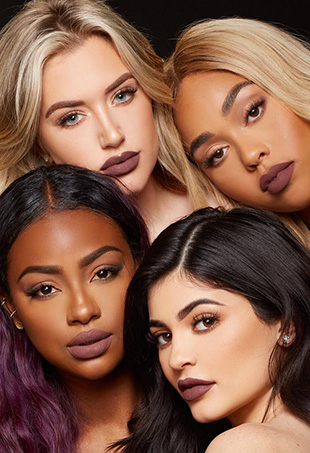 Kylie Jenner had her diverse group of besties demonstrate how her new Lip Kit shades hold up on a range of skin tones.